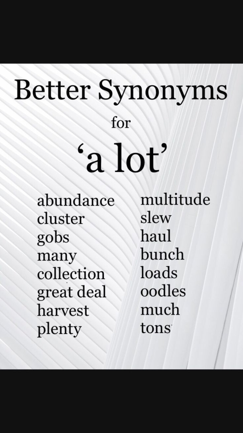 ESL: BETTER SYNONYMS FOR