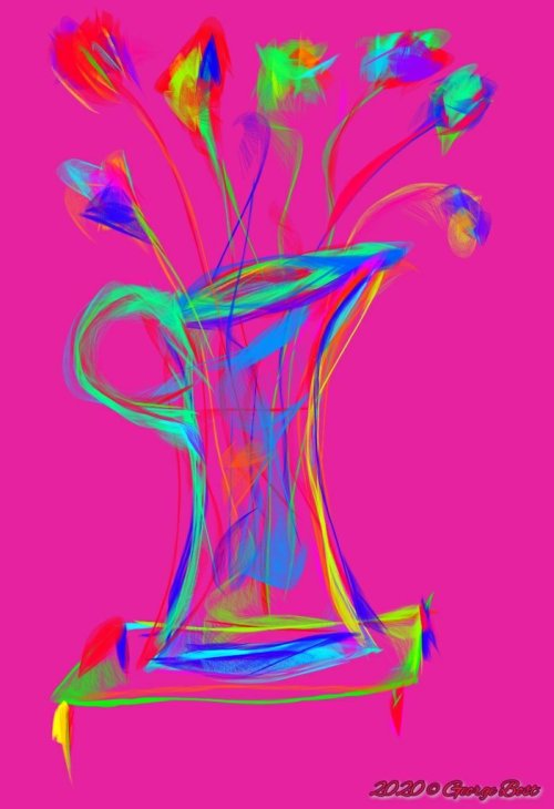 Painting: My vase with flower today (01/17/20)