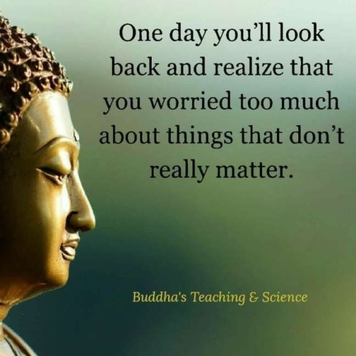 Quote: One day you'll look back...(Buddha)