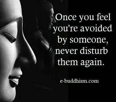 Quote: Once you feel you're avoided...