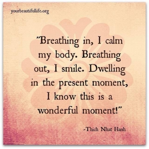 Yoga:  Breathing in...