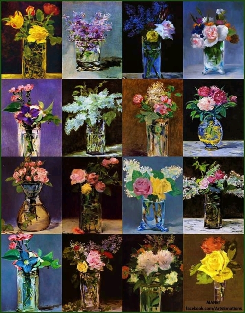 Flowers by Manet