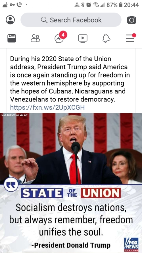 Socialism destroys nations, but always remember freedom unifies the soul (President Donald Trump)