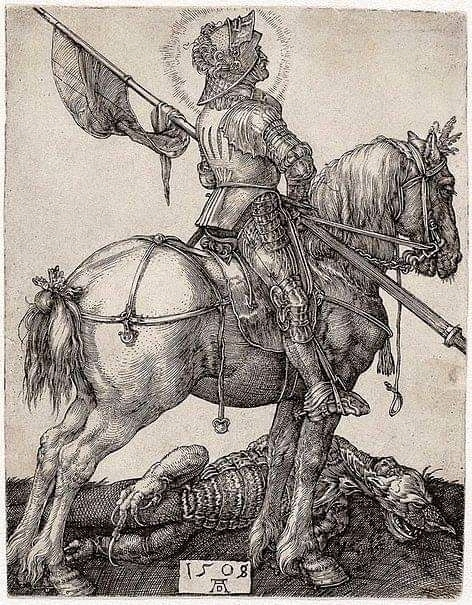 Albrecht Durer: Saint George and the Dragon