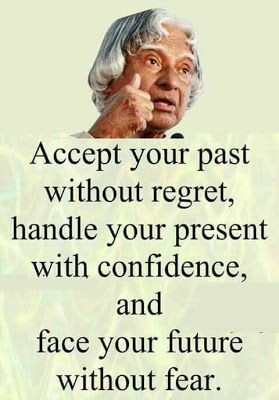 Quote: Accept your past...