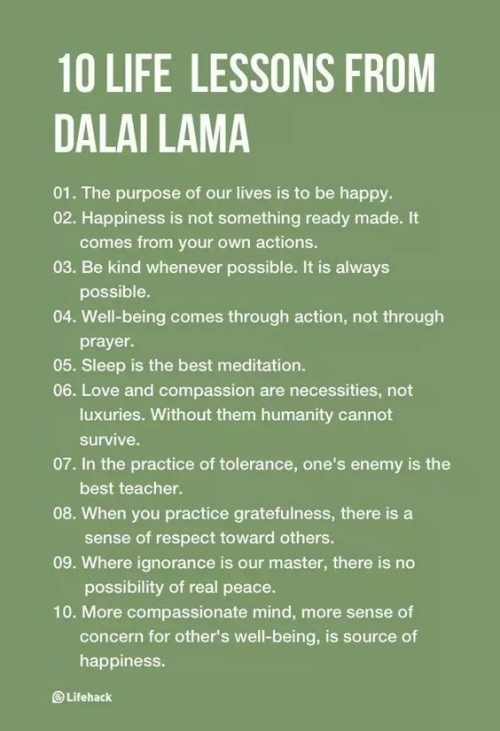 10 life lessons from the Dalai Lama